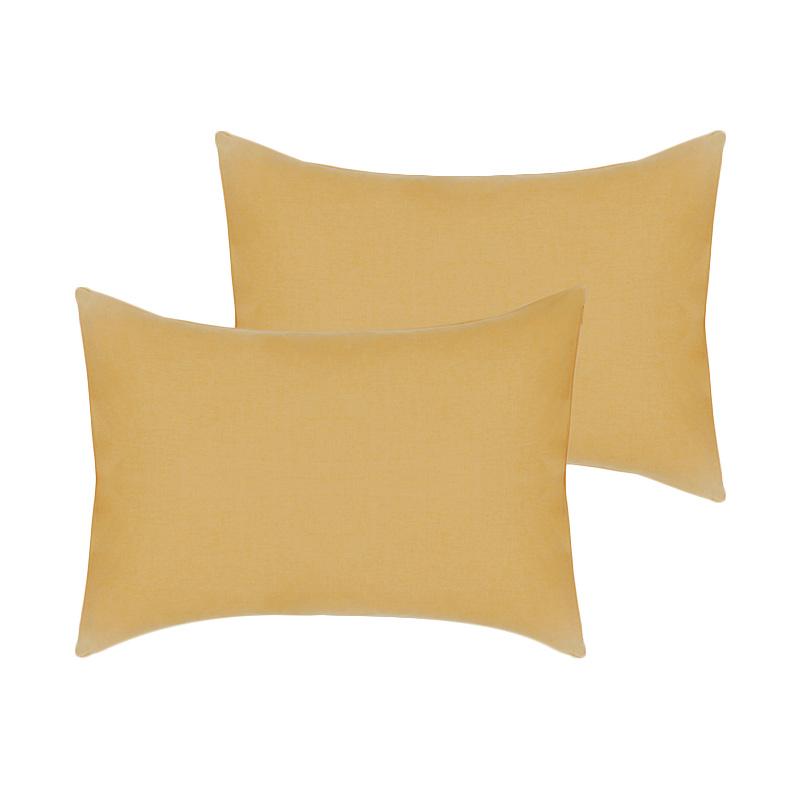 Tren-D-Home Polos Sarung Bantal Tidur - Coklat susu [47 x 67 cm/2 pcs]