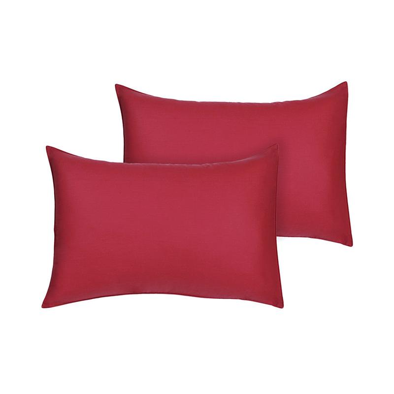 Tren-D-Home Polos Sarung Bantal Tidur - Merah [47 x 67 cm/ 2 pcs]