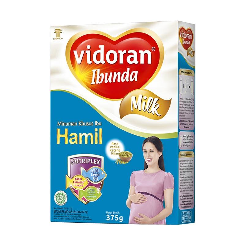 Susu Vidoran Ibunda Nutriplex Rasa Vanilla Kacang Hijau [375 g]
