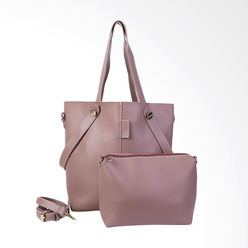 Chloe Babyshop Fashion Big Tote Bag with Pouch Sling - Brown