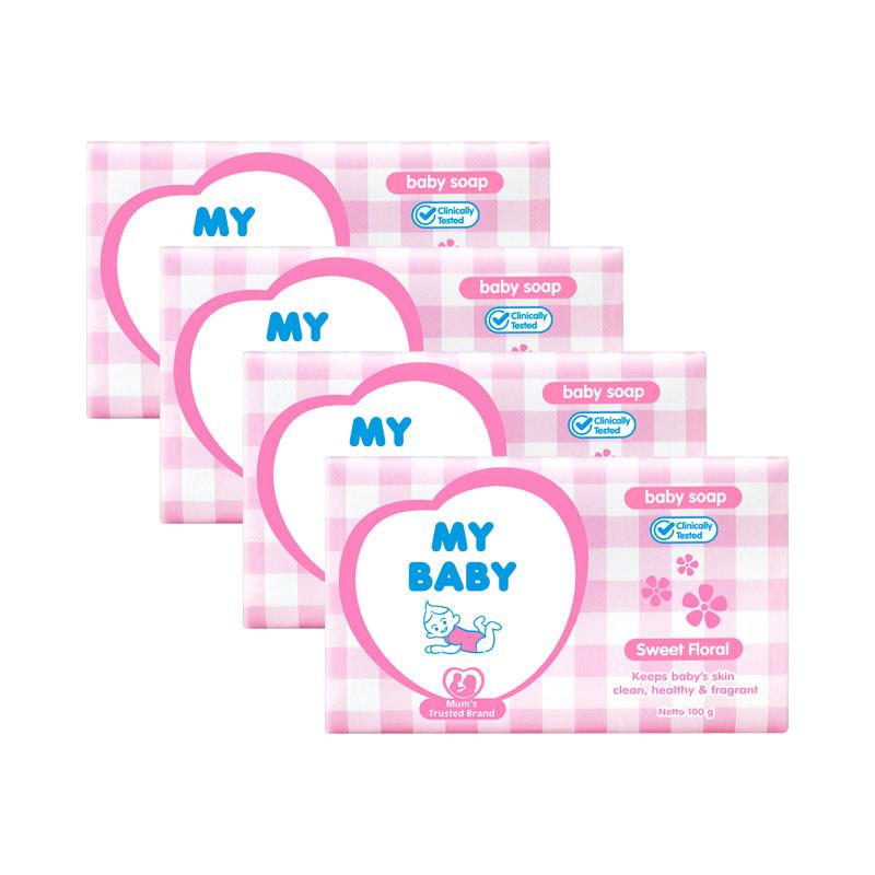 My Baby Bar Soap Sweet Floral [100g/4pcs]