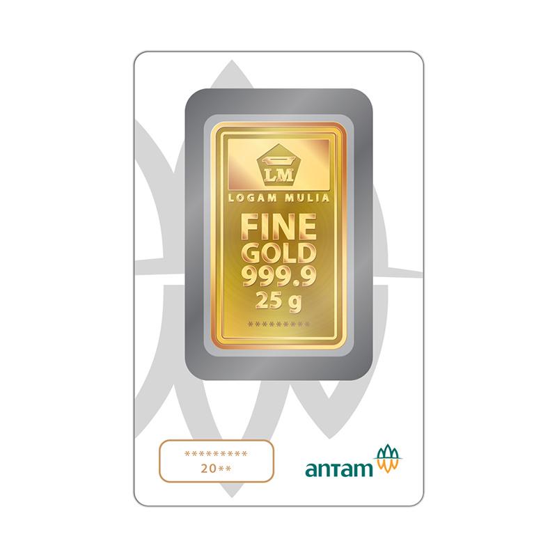 Jual Antam Logam Mulia Keping Emas 25 G 999 9 Fine Gold Certificate Online Maret 2021 Blibli