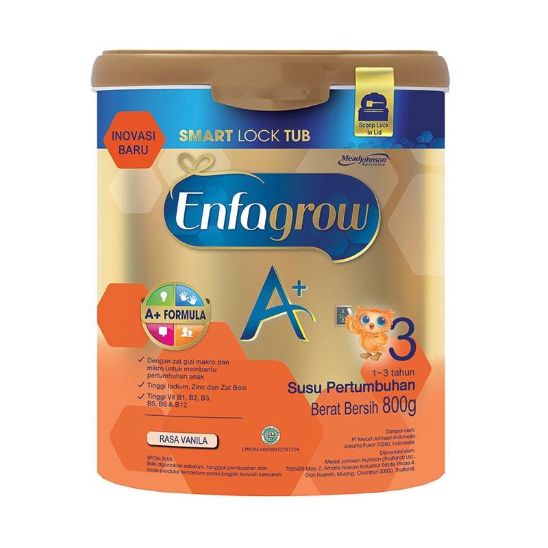 Enfagrow A+ 3 Vanilla Susu Formula [800 g/ Kemasan Kaleng dengan Smart Lock Tub]