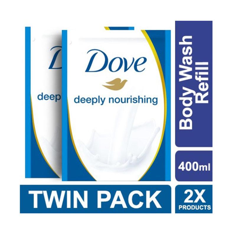 Jual Dove Body Wash Deeply Nourishing Refill 400 Ml 2 Pcs Online Agustus 2020 Blibli Com