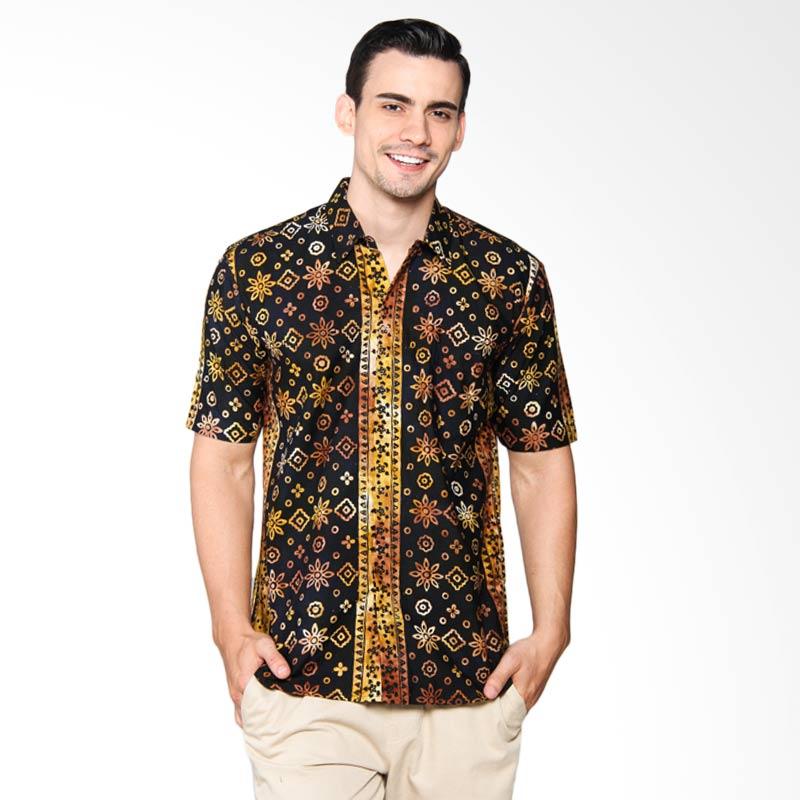 Blitique Ambada Sekar 7A Slim Fit Batik Pria - Black