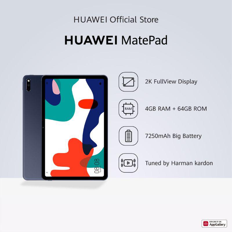 Huawei MatePad Tablet 4GB 64GB 10 4 Inch 2K FullView Display Tuned by Harman Kardon 7250 mAh Big Battery Tablet