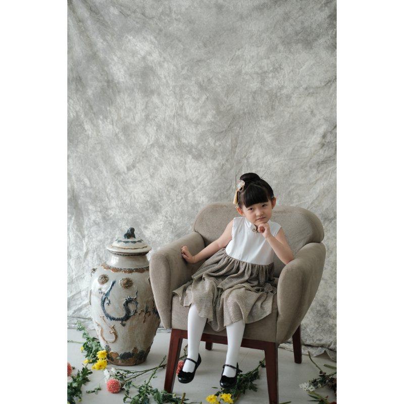 Montre x Ribbon Madness Pearl Kids CNY Dress Anak with Ribbon Madness Headpiece