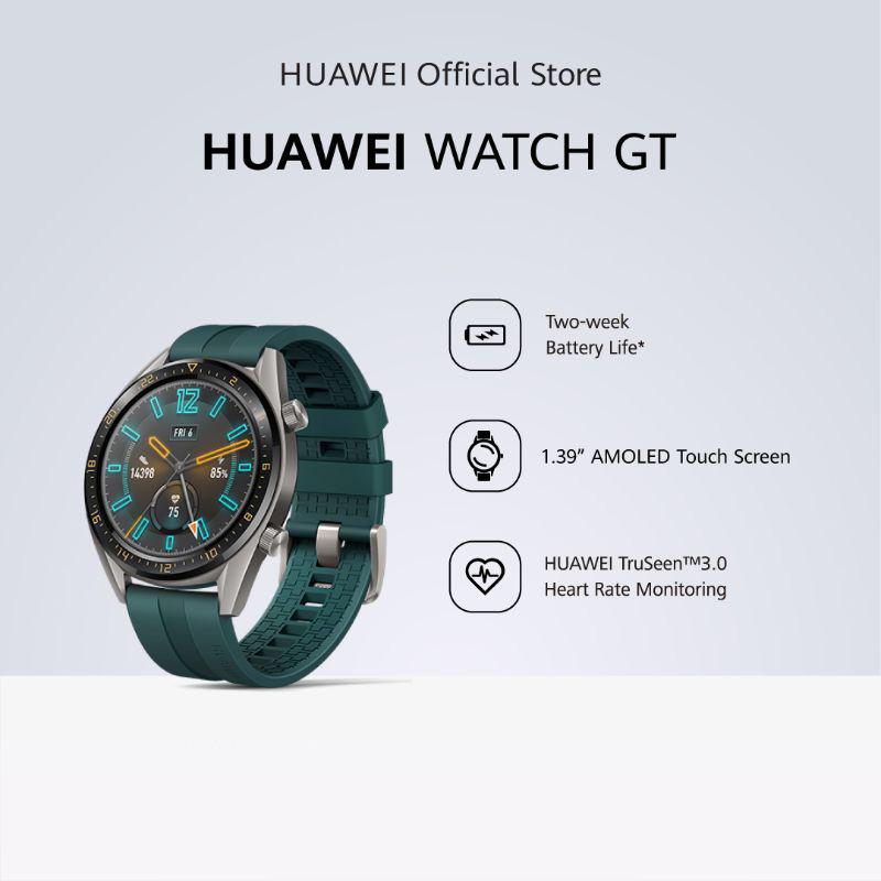 Huawei Watch GT 2 Week Battery Life GPS Sports Mode Heartrate Monitoring Smartwatch Jam Tangan