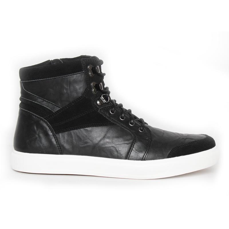 Gino Mariani Achiles Sepatu Boots Kasual Pria Black