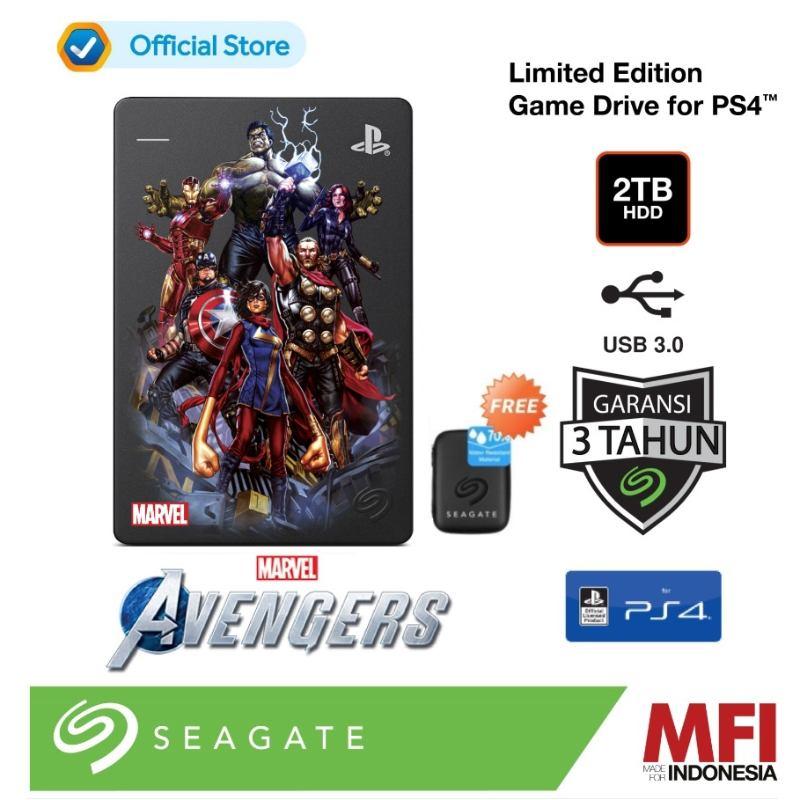 Seagate PS4 Marvel s Avengers Limited Edition Hardisk Eksternal 2TB Avengers Assemble Free Pouch