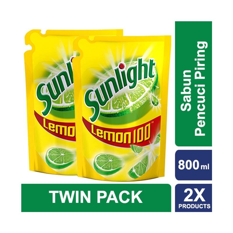Sunlight Sabun Cuci Piring Lemon Refill [800 mL/2 Pcs]