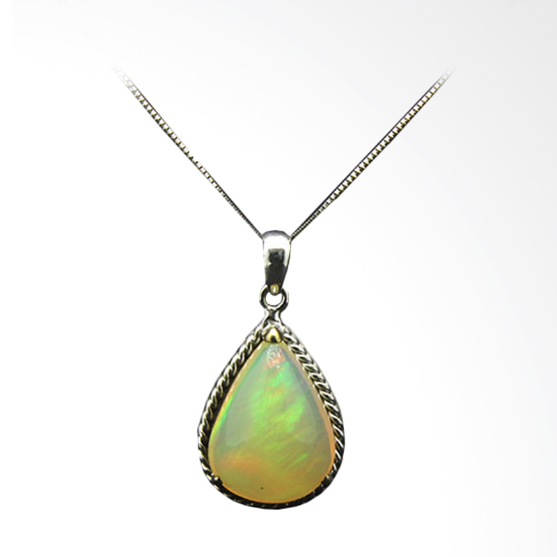 harga Batu Kalimaya Opal Pendant - White Gold [14K/ 3.600 g] Blibli.com