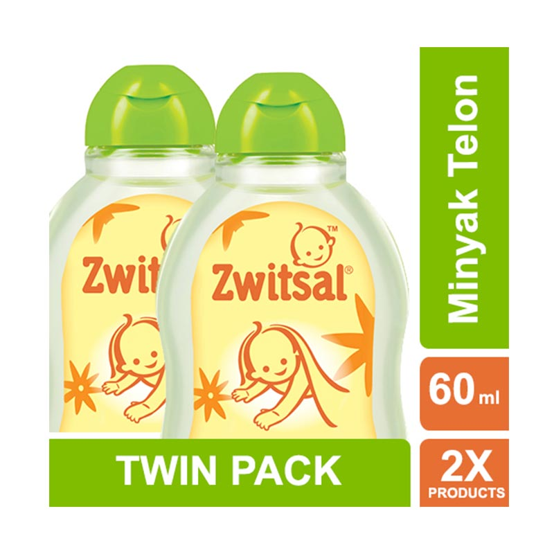Zwitsal Baby Natural Minyak Telon [60 mL/2 pcs] 21023184