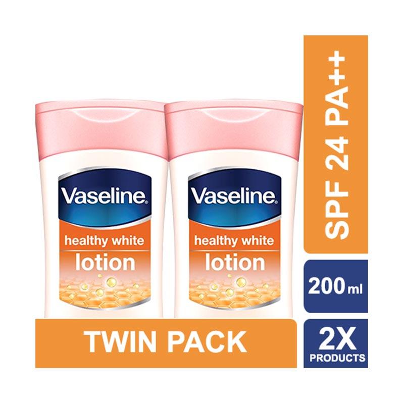 harga Vaseline Lotion Healthy White Spf24 Pa++ [200 mL Twin Pack] Blibli.com