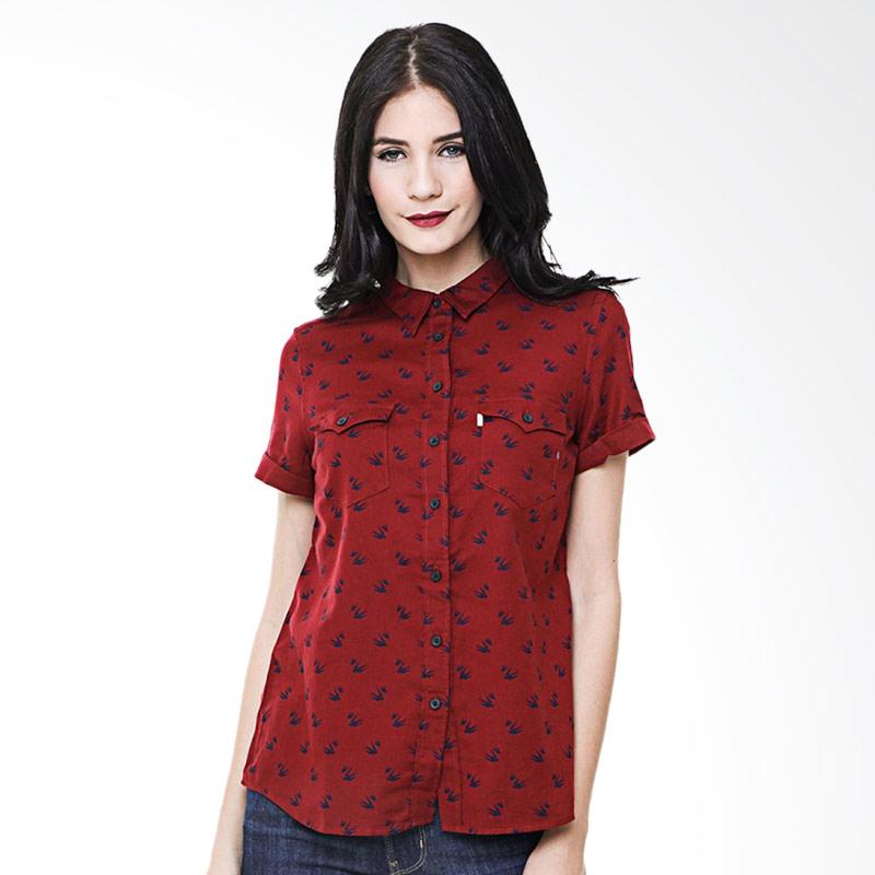 harga Levi's 19788-0017 Western Shirt Atasan Wanita - Cardamom Sun Dried Tomato Blibli.