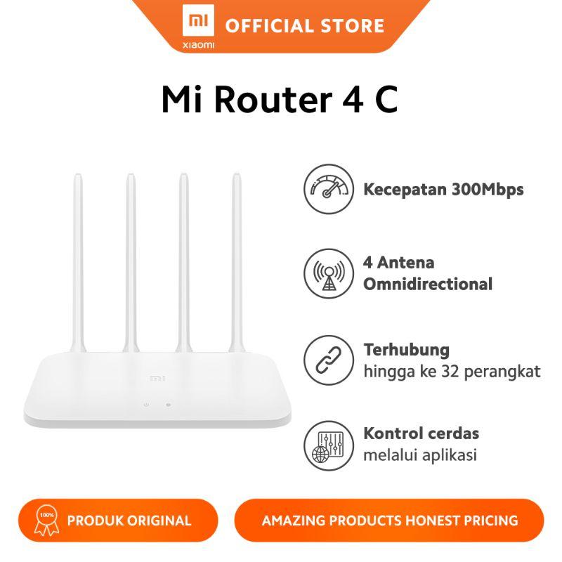 Xiaomi Router 4C Wi-Fi 4 300Mbps 4 Antena 64GB Single Band 2.4GHz