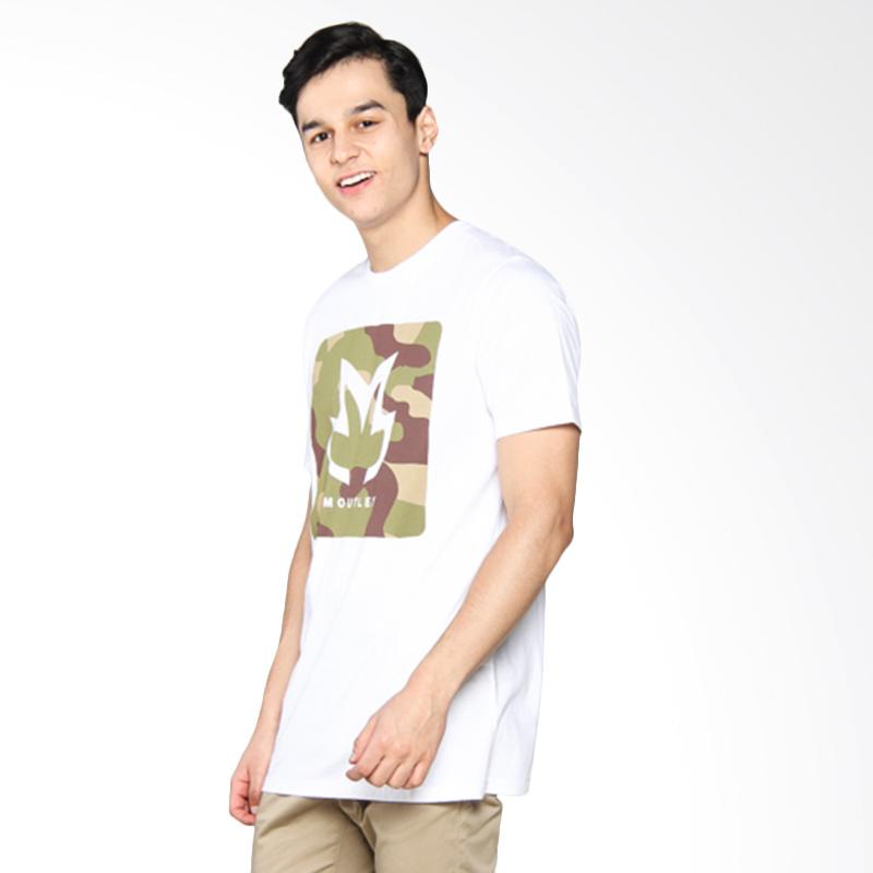 Moutley Camo Classic Logo Print Tee Atasan Pria - White 359051712