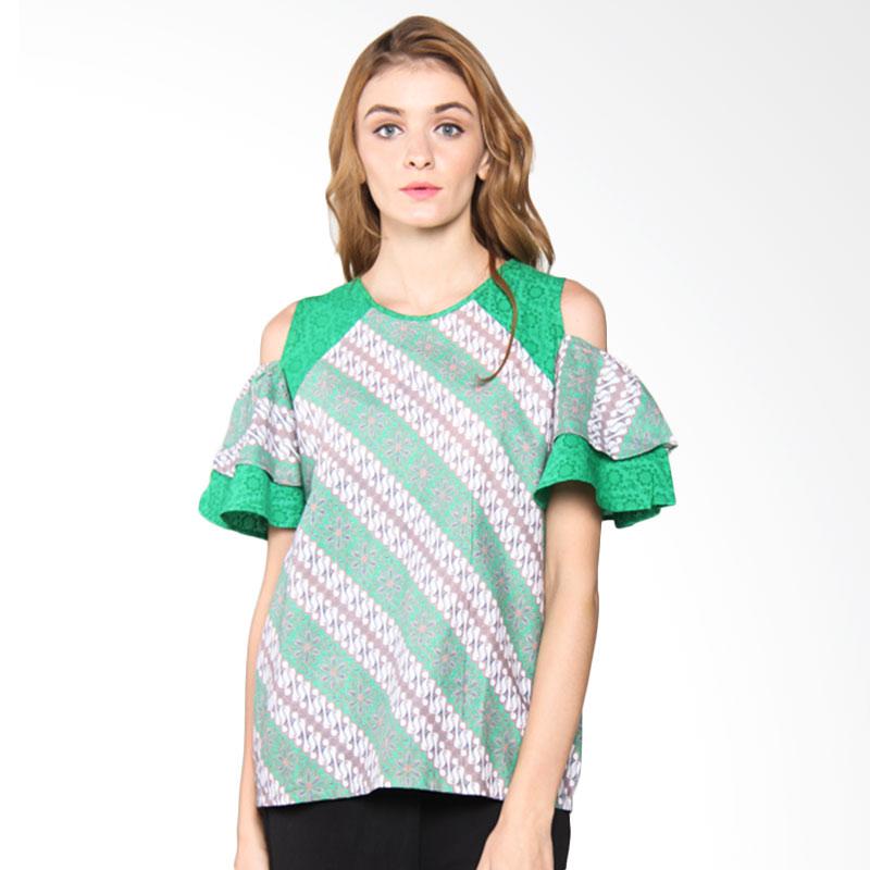 Djoemat Gembira A17-01-02 Keyra Top Batik Atasan Wanita - Green