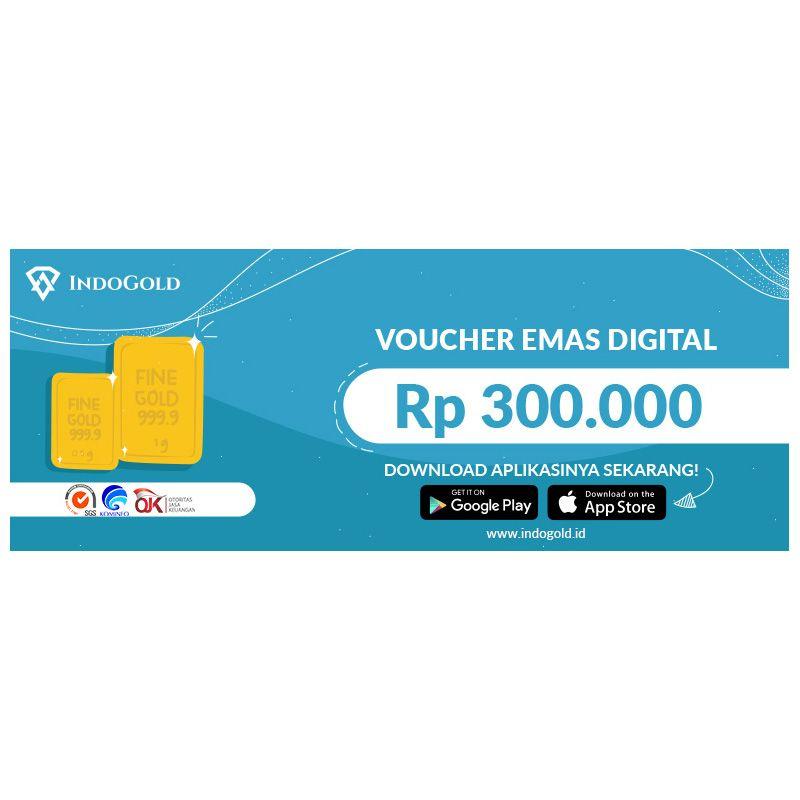 IndoGold Emas Digital Voucher (Rp300,000)