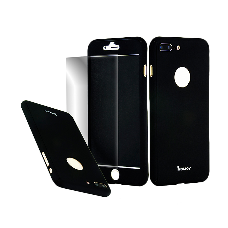 iPaky 360 Full Protection Casing for iPhone 7 Plus - Black