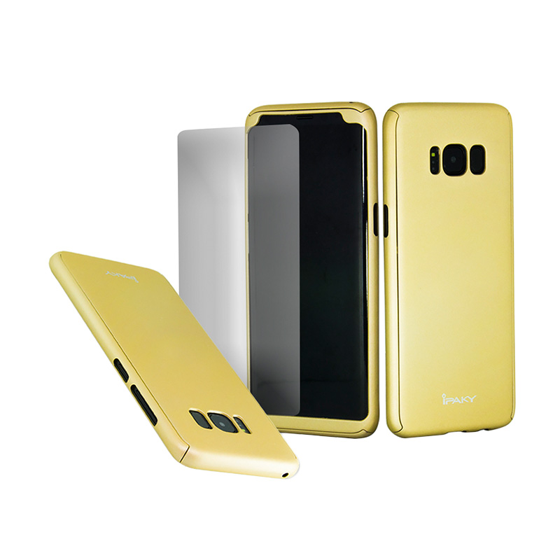 iPaky 360 Full Protection Casing for Samsung Galaxy S8 - Gold