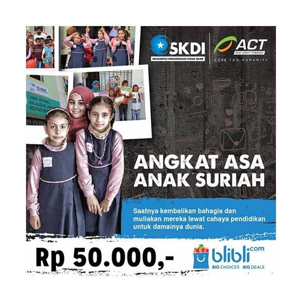 Yayasan Aksi Cepat Tanggap ACT Angkat Asa Anak Suriah