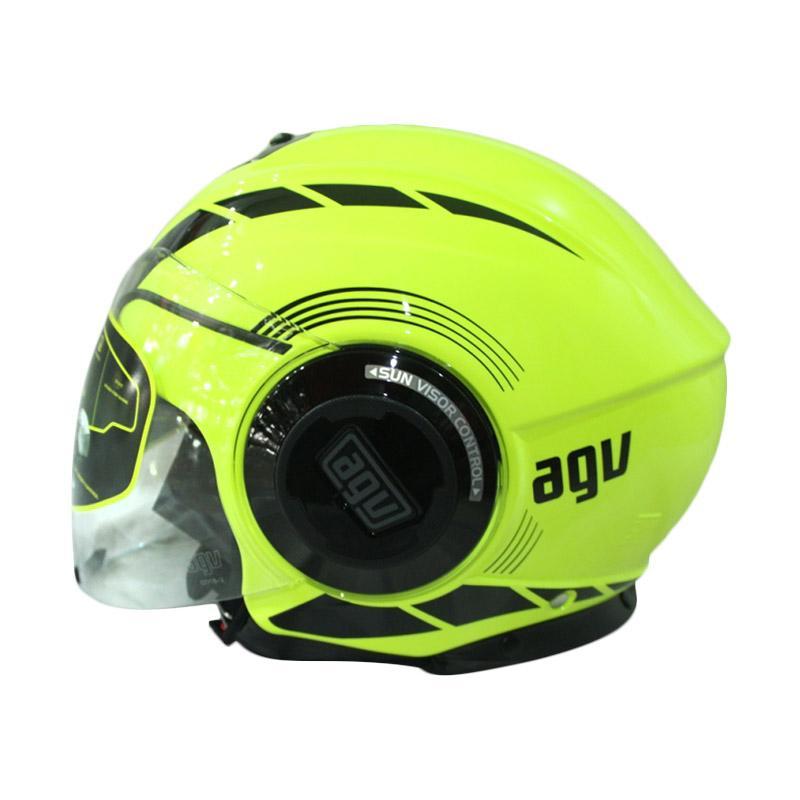 harga Helm AGV Fluid equalizer - Yellow Fluo/Black Blibli.com