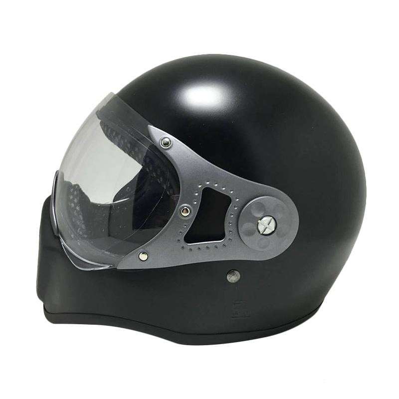 harga HBC Cakil Pilot Visor Helm Full Face - Black Doff Blibli.com
