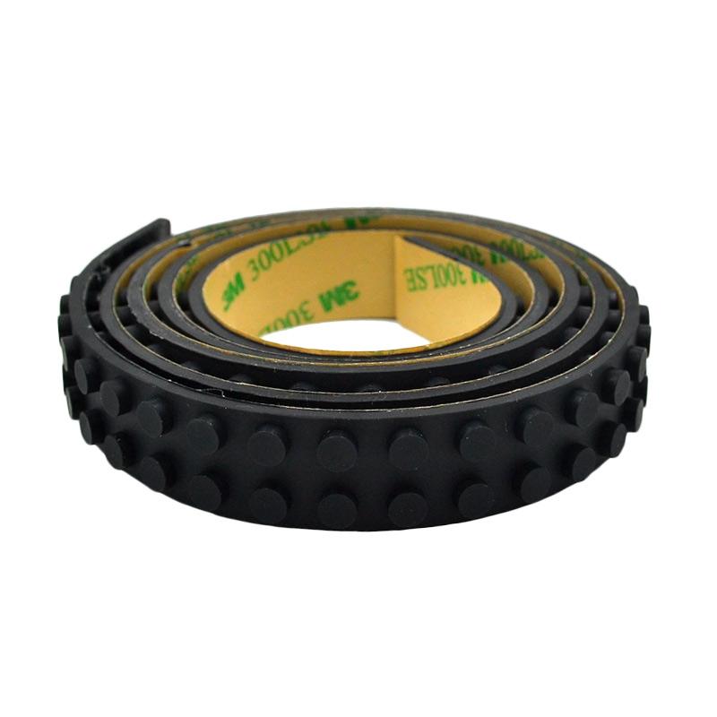 My Wheel Lego Tape Selotip Lego - Black [50 cm/ 2x63 Dots]