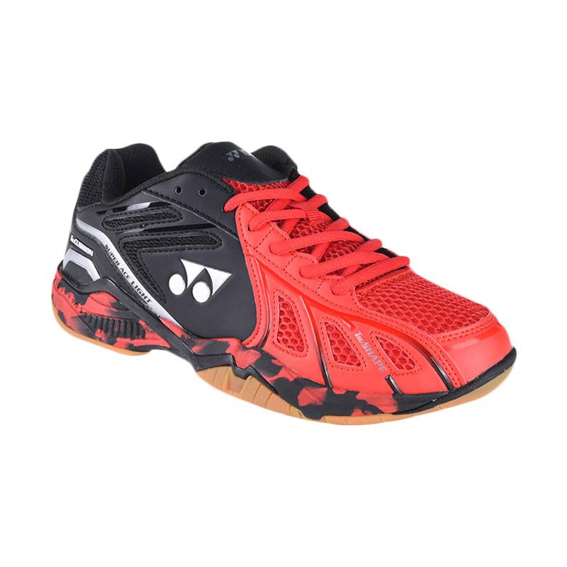 YONEX Men Super Ace Light Sepatu Badminton Pria - Red Black 00e8146753
