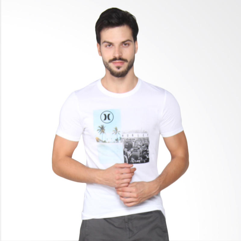 Hurley Escape DF T-shirt Pria - White AMTSESCP 10A