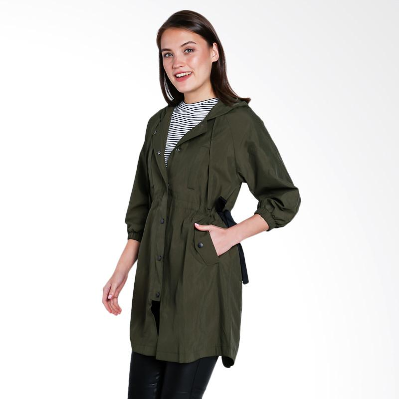 Papercut Fashion GZ 02 Aishangyi 8852 Parka Hoodie with Side Bow Jacket Green
