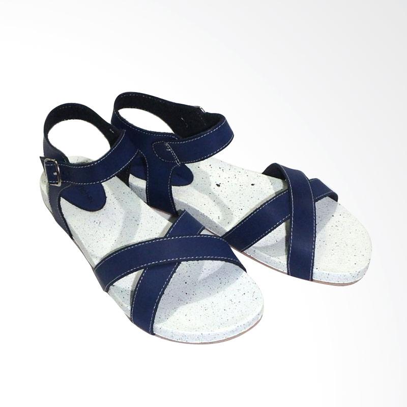 Aerilyn Tinker X Sandal Flat Wanita - Blue
