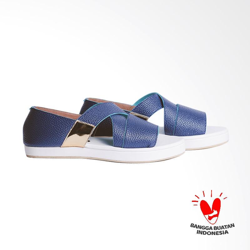 Thia Label Everyl Flats Sandal Wanita -  Blue