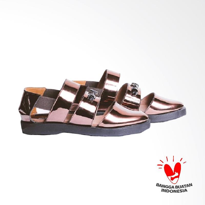 Thia Label Reana Wedges Shoes Wanita - Brown