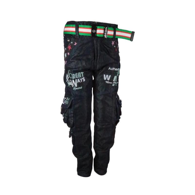 harga Sanjaya Celana Panjang Cargo Jeans Milenium Anak Laki-Laki [Usia 4-5 tahun] Blibli.com