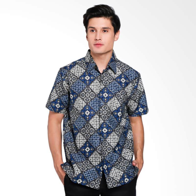 Batik Waskito Short Sleeve Shirt Kemeja Batik Pria
