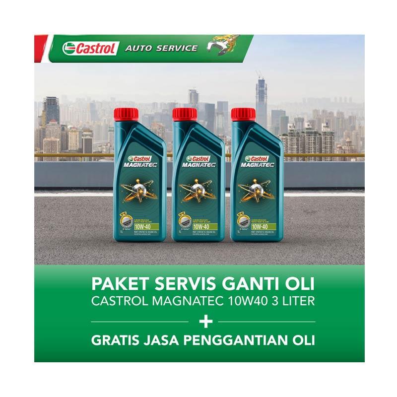 Castrol Magnatec 10w40 Paket Servis Ganti Oli - [3 Liter/Gratis Jasa Penggantian Oli]