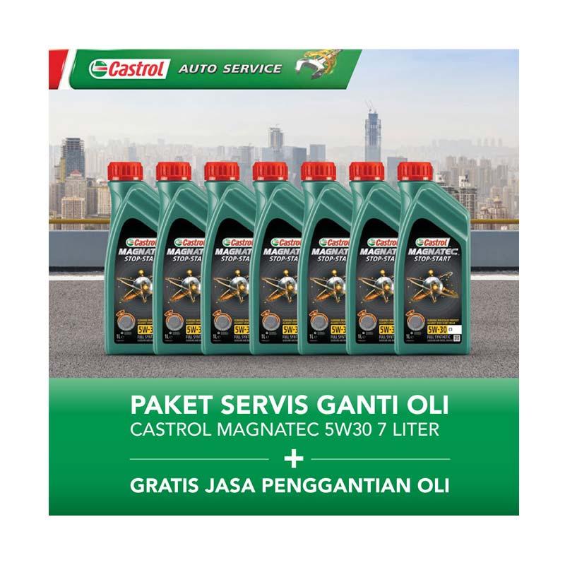 Paket Servis Ganti Oli - Castrol Magnatec 5w30 7 Liter + Gratis Jasa Penggantian Oli