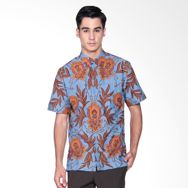 Harga Baju Batik Pria Danar Hadi: Jual Danar Hadi Print Motif Sekar Ceplok Guci Kemeja Batik