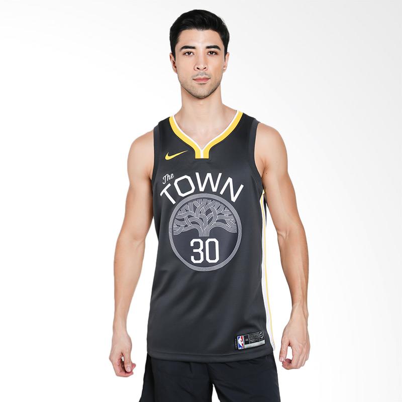 harga NIKE Men Basketball Stephen Curry Golden State Warriors Swingmen Jersey Kaos Basket Pria [877205-060] Blibli.com