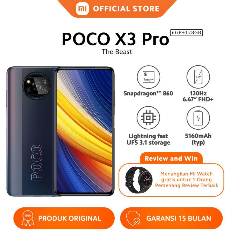 "POCO X3 Pro (6GB + 128GB) Snapdragon™ 860 48MP AI AI Quad Kamera Layar 120Hz 6.67"" FHD+ 5160mAh"