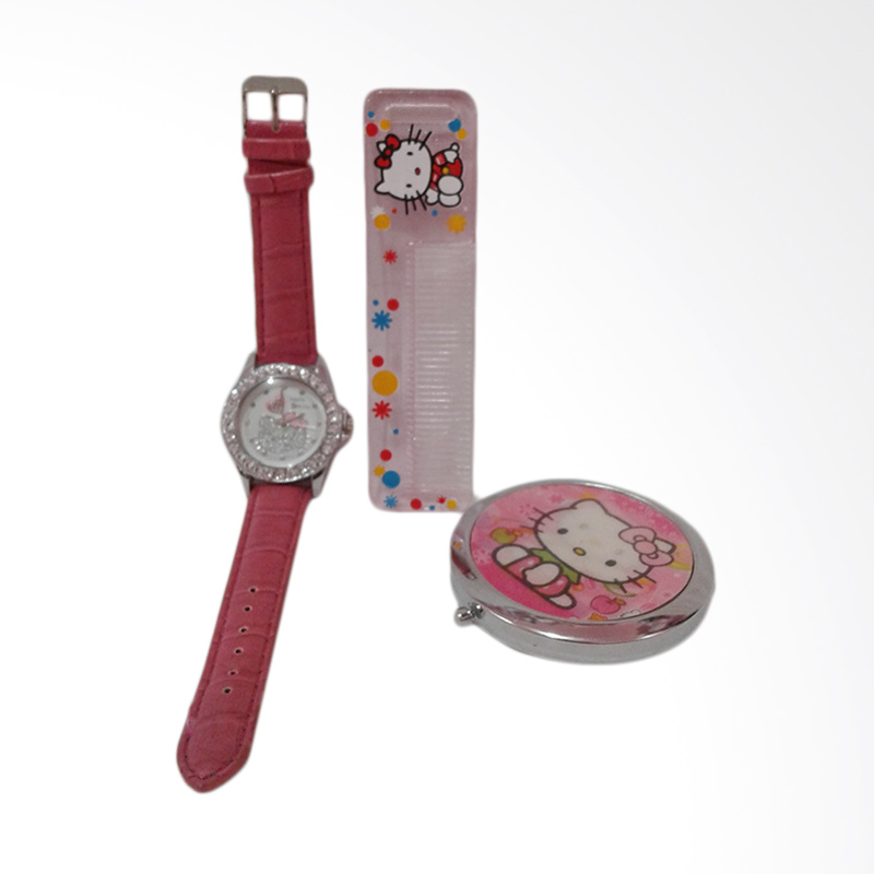 Hello Kitty HK-011 Paket Dandan Jam Tangan Wanita - Multicolor