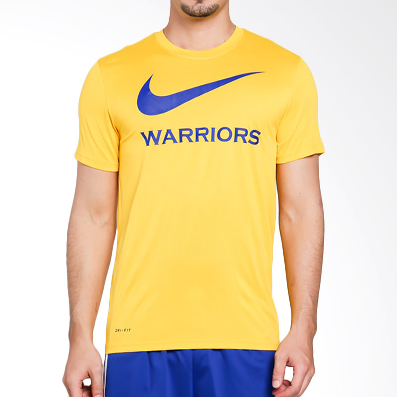 hot sale online 69b28 01b44 NIKE Men Basketball As Golden State Warriors Dry Tee Essentials Swoosh Baju  Basket Pria [870897-728]