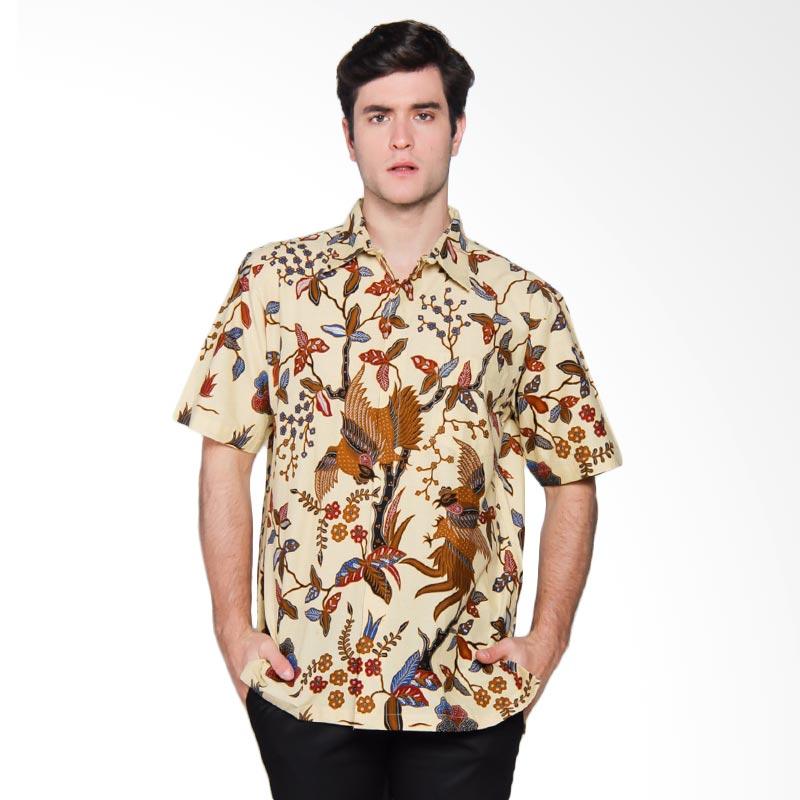 Harga Baju Batik Pria Danar Hadi: Jual Danar Hadi Pendek Print Motif Kukilo Wuyung Kemeja