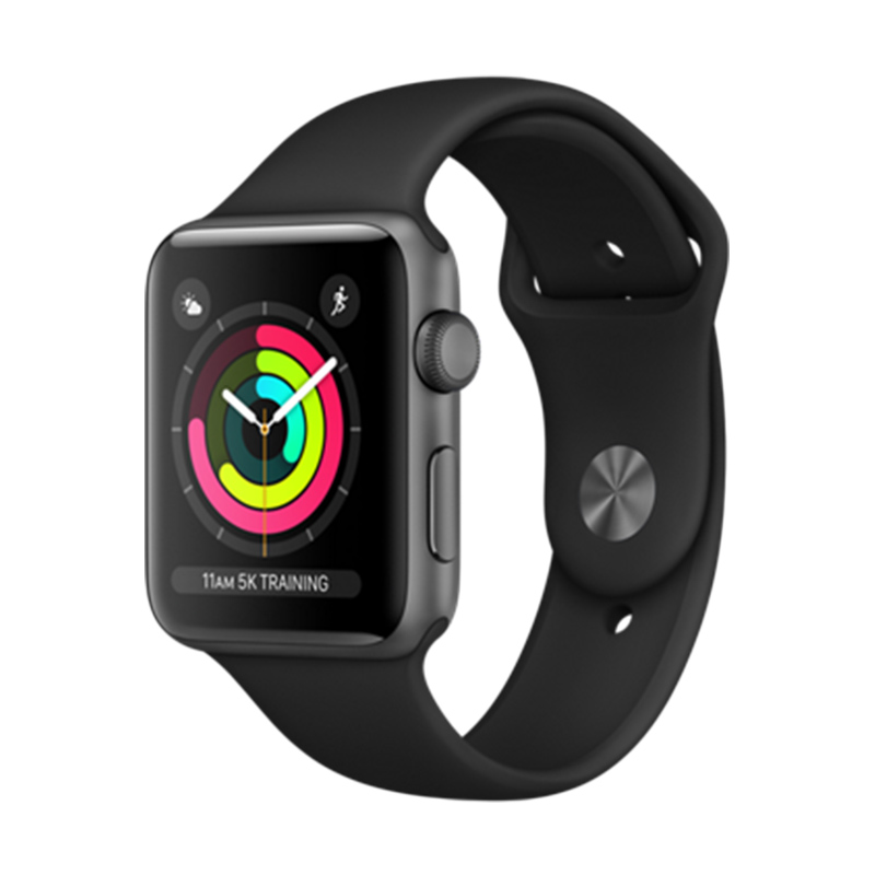 Apple Watch Series 3 Aluminum Case with Black Sport Band Smartwatch - Space Gray [42 mm] - 25958843,337_25958843,5865000,blibli.com,Apple-Watch-Series-3-Aluminum-Case-with-Black-Sport-Band-Smartwatch-Space-Gray-42-mm-337_25958843,Apple Watch Series 3 Aluminum Case with Black Sport Band Smartwatch - Space Gray [42 mm]
