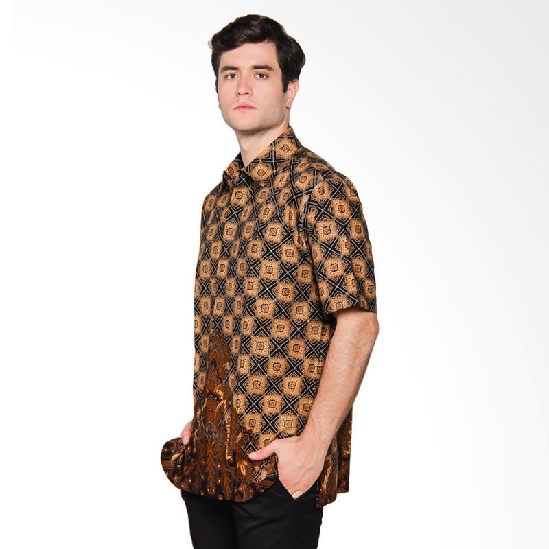 Harga Baju Batik Pria Danar Hadi: Jual Danar Hadi Pendek Motif Ceplok Gunung Mas Kemeja