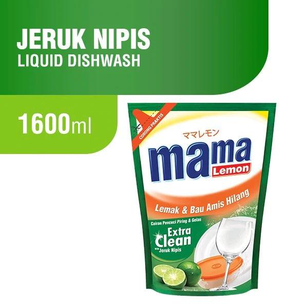 MAMA LEMON Extra Clean Jeruk Nipis Pouch 1 6 L