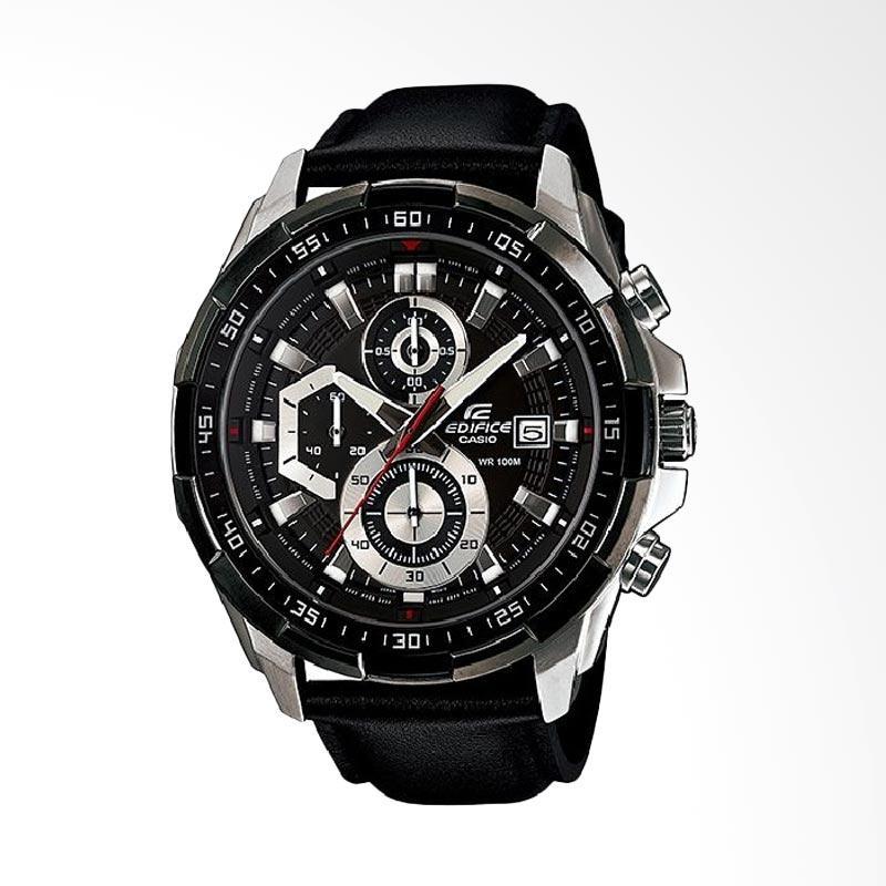 harga CASIO Edifice Jam Tangan Pria - Black Silver [EFR-539L-1AVUDF] Blibli.com