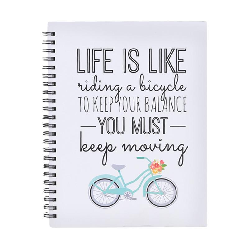 Karisma 749141 Double Wire Kwarto Life Is Like Riding A Bicycle Buku Tulis